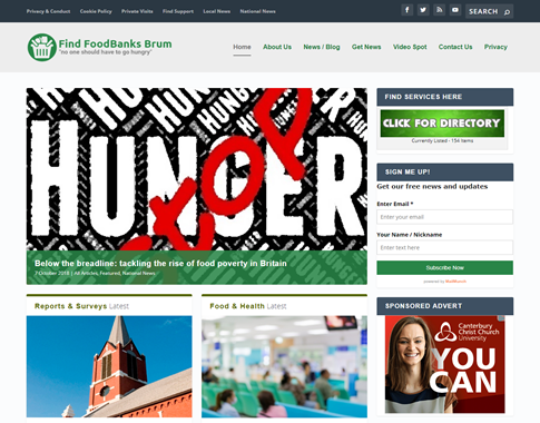 FindFoodBanksBrum - New