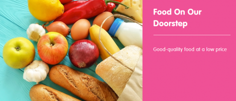 Food On Our Doorstep - banner with fruit & veg